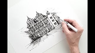 Sketch [2/3] of The Heidelberg Castle, for Lamy Germany