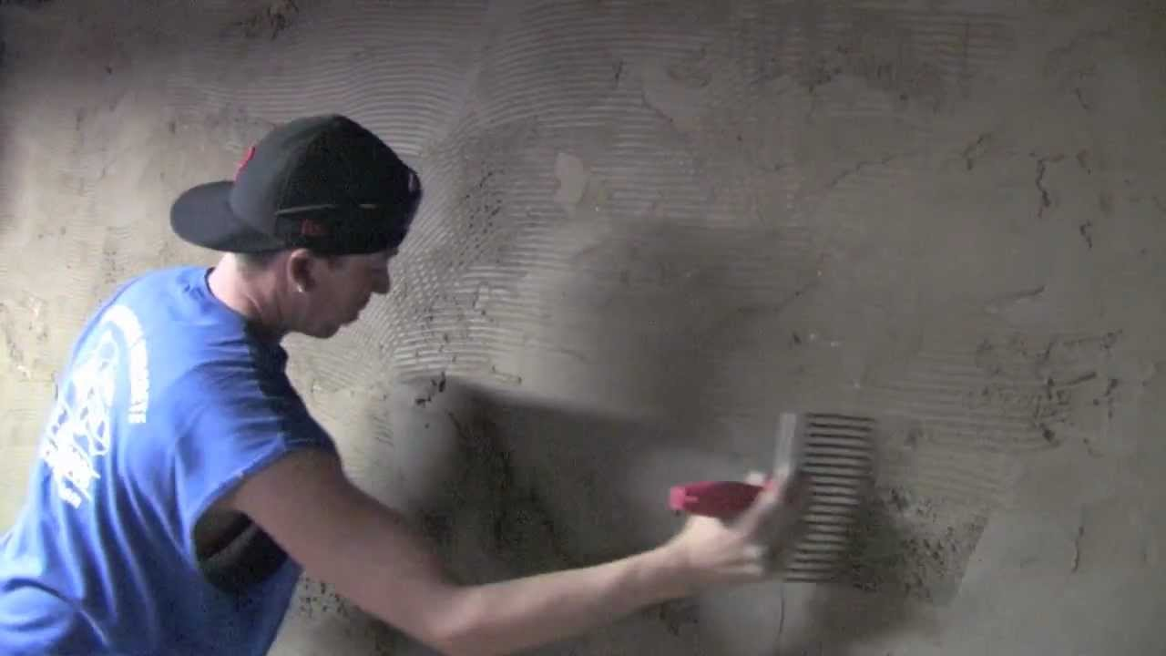 Cellar Basement Wall Re Cementing Stucco Youtube