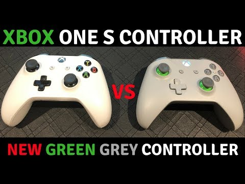 The New Xbox One Green & Grey Controller Vs The Standard Xbox One S Controller In-Depth Review