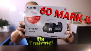 فتح صندوق كاميرتي اليديدة + مفاجئة ال Canon 6D mark ii unboxing