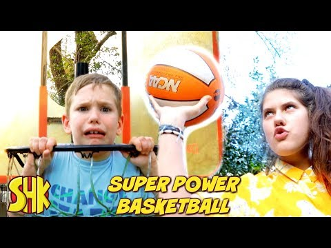 SUPER POWER BASKETBALL Trick Shot Master!