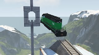 Carefully planned Train stunts - beamng drive | Car Pal