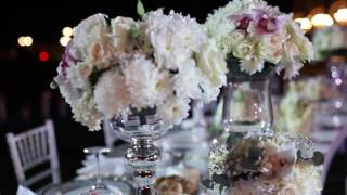 Красивое оформление свадебного банкета под открытым небом