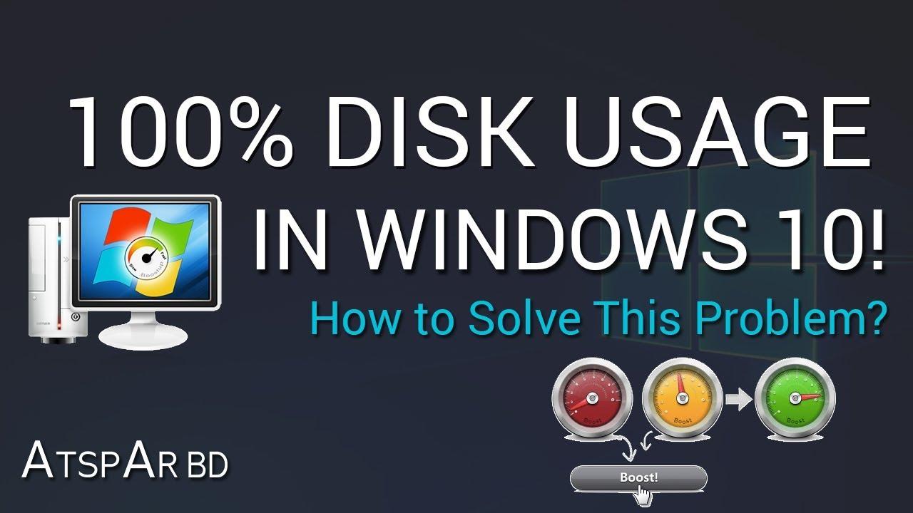 100 disk utilization windows 10 dell