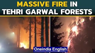 Massive fire in Tehri Garhwal forests continue to blaze | Oneindia News