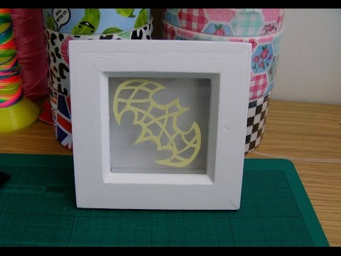 How To Make A Paper Cut Shadow Box Youtube