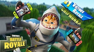 Chipmunk DESTROYING NOOBS On Fortnite With Nintendo Switch