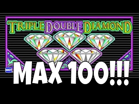 MAX 100! 100 SPINS AT MAX BET ✧ WHAT'S MY PAYBACK% ✧ TRIPLE DOUBLE DIAMOND DOLLAR SLOT