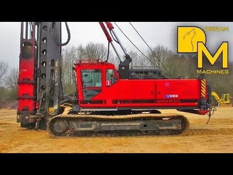 JUNTTAN PILE DRIVER MACHINE WITH IMPACT HAMMER ERECTING FOUNDATIONS