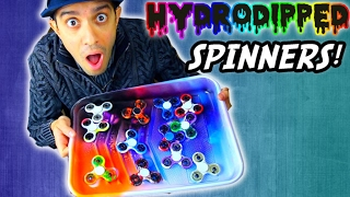 HOW TO HYDRO DIP FIDGET SPINNERS (DIY Hand Spinners Tutorial) + GIVEAWAY!