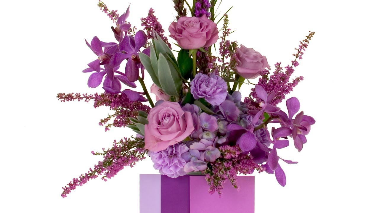 2014 flower trends radiant orchid a dramatic floral design 2014 flower trends radiant orchid a dramatic floral design featuring the color of the year youtube altavistaventures Images