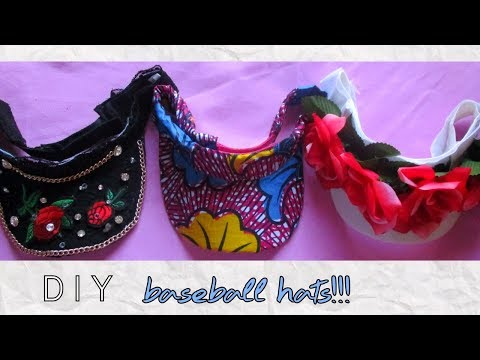3 DIY baseball hats/Visors for BIG Afro hair ft African print