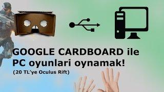 Google Cardboard ile Bilgisayar oyunları oynamak! 20 TL'ye Oculus Rift, Sanal Gerçeklik Trinus Gyre