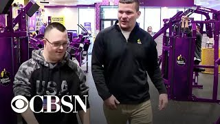 Man with Down syndrome gifted new sneakers by gym manager