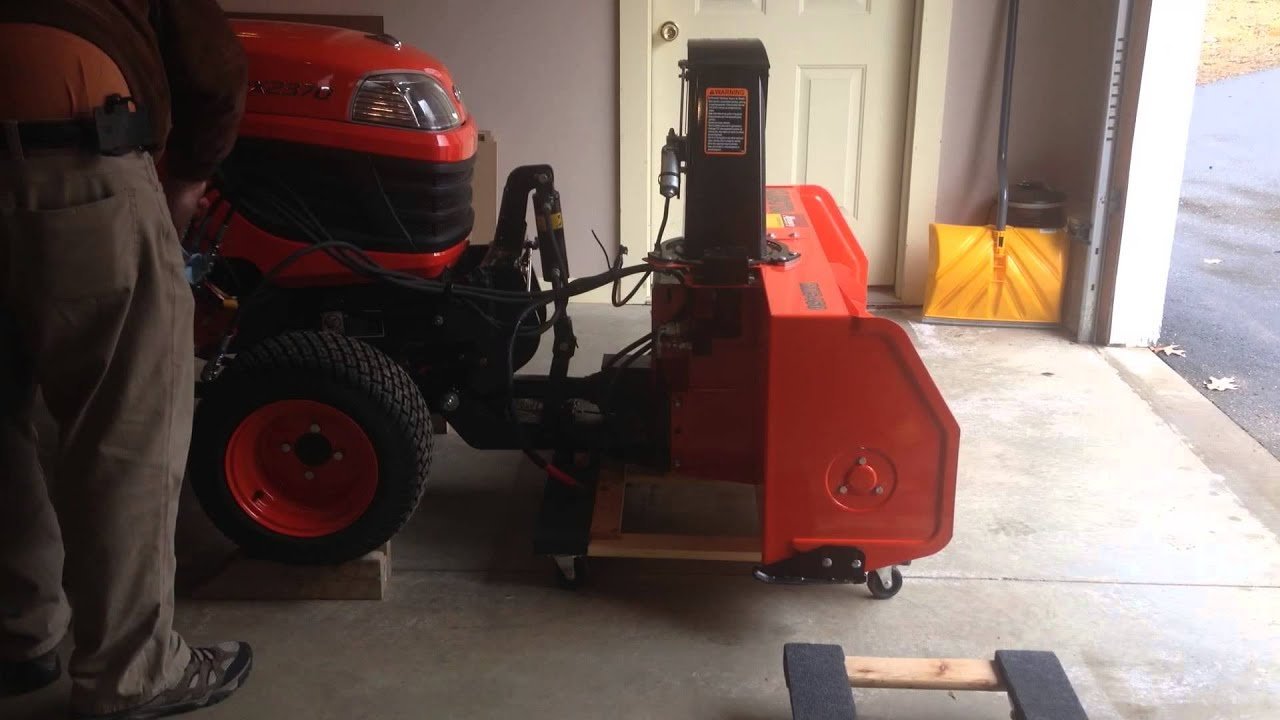 Kubota Bx Snowblower Bx Storage Dolly And