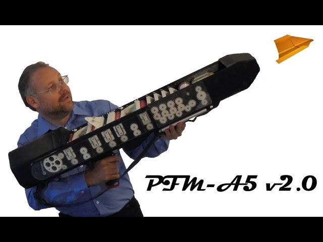Paper Airplane Gun PFM-A5 in action!