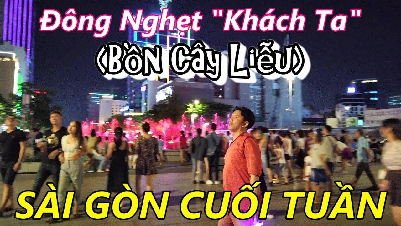 """Cuối Tuần """"Đông Nghẹt Người"""" ở Phố ĐI BỘ Nguyễn Huệ Sài Gòn"""