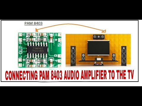 How to make Audio amplifier using PAM8403 |to connect to Tv|mini audio  amplifier |by Fusion volt