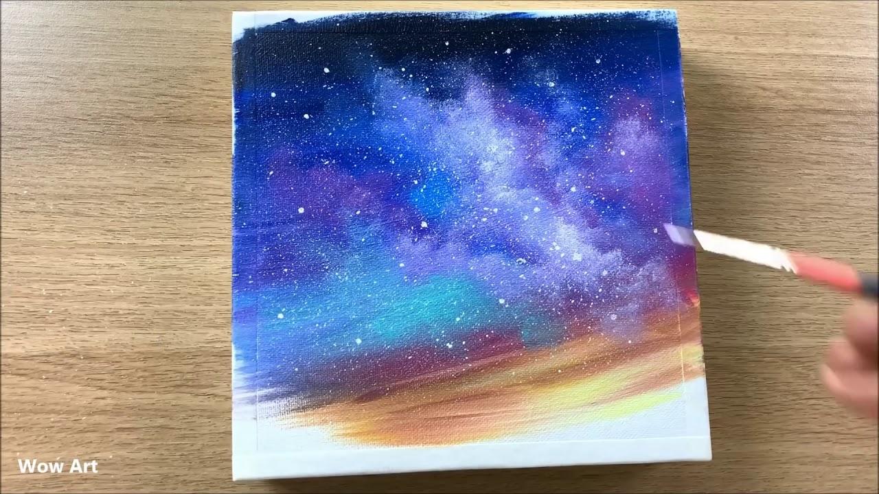 Watercolor Painting: Milky Way   Speedpainting - YouTube
