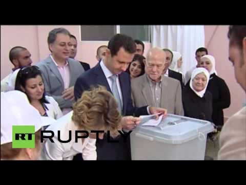 Syria: Bashar al-Assad and first lady cast vote in Damascus