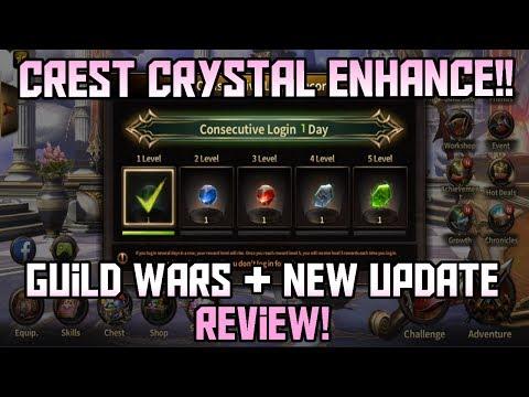 Crest Crystal Enhance Update Review!! Live Guild Wars After | HIT