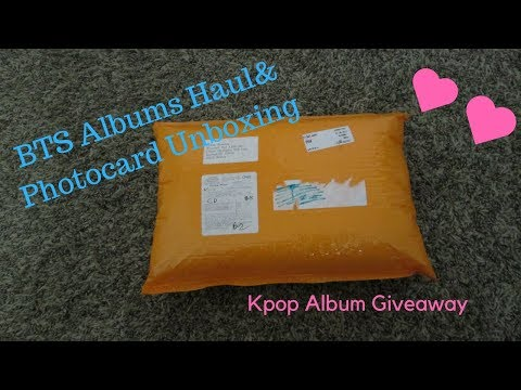 """BTS """"Love Yourself:Her"""" Albums Haul + Photocard Unboxing"""