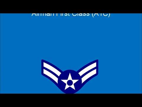 U S  Military Enlisted Rank Insignia Air Force No.1