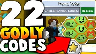 USING *ALL 22 GODLY CODES* ON A NOOB ACCOUNT! (INSANE RESULTS!) - Roblox bee Swarm Simulator