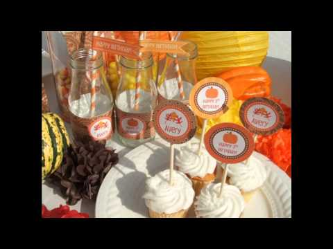 Great Fall birthday party decorating ideas