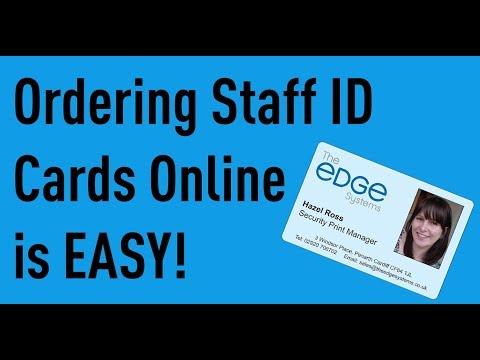 Staff ID Cards UK ID Badge incl Lanyard  Holder Free UK PP