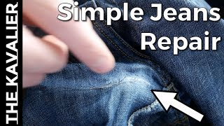 How to: Repairs Pants with Hand Stitch (Super Simple) | Tailor Series