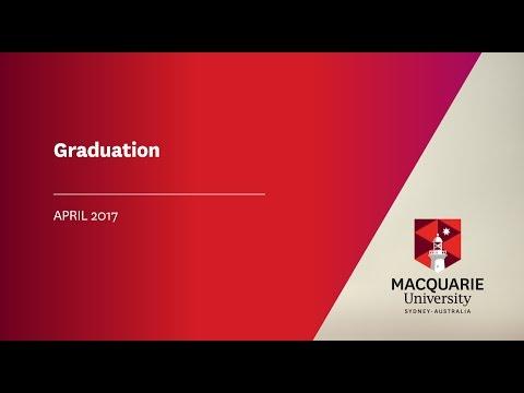 Macquarie Graduation 27 April at 10.30am
