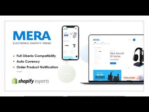 Mera - Electronics Responsive Shopify Theme | Themeforest