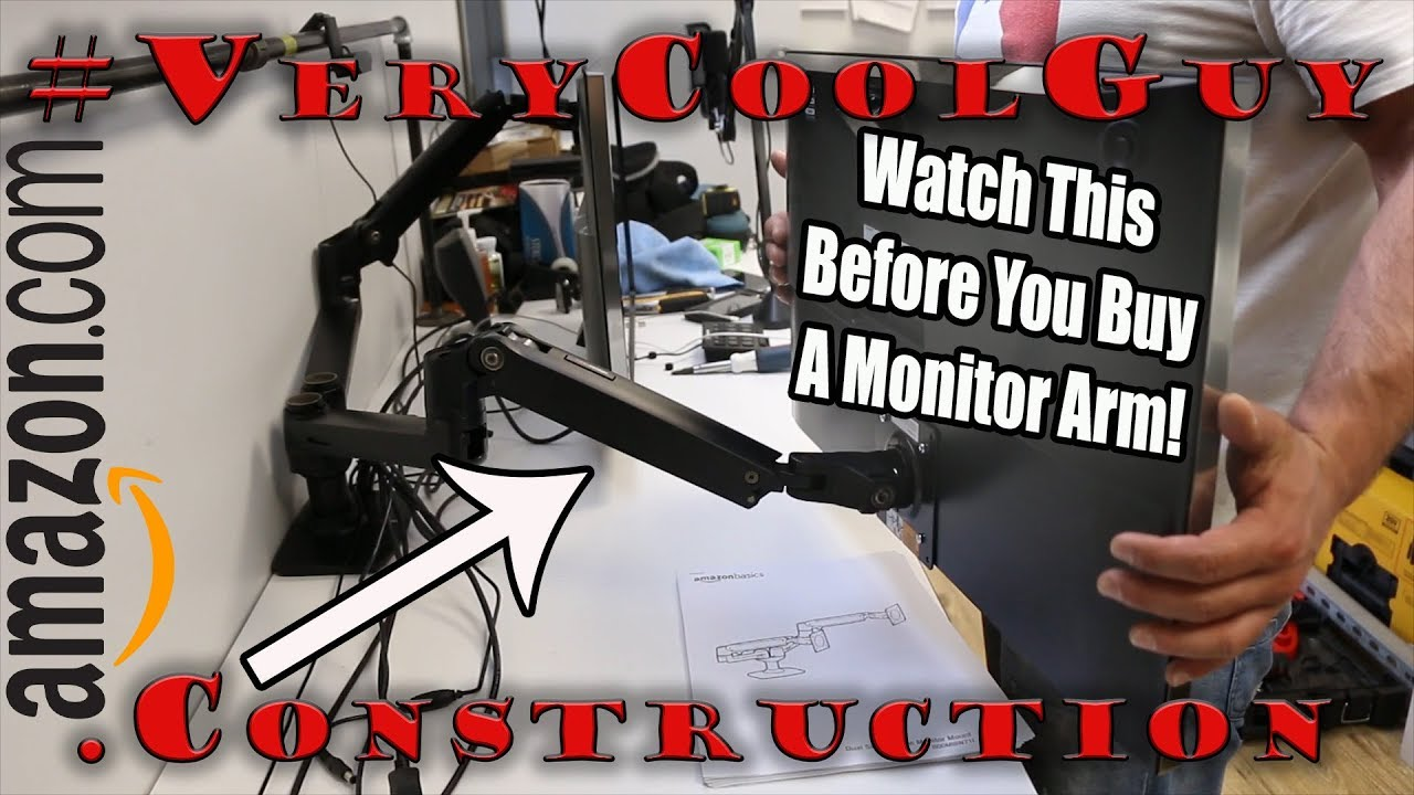 amazon basics computer monitor arm watch before you buy  [ 1280 x 720 Pixel ]