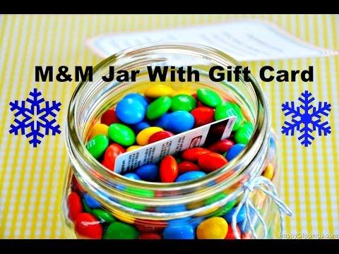 DIY M&M Gift Card Jar | Gift Ideas