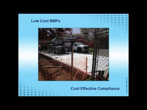 Low Cost BMPs   Construction Stormwater Management