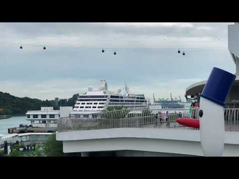 Azamara Journey Cruise Ship Docked in Singapore Cruise Center 2018