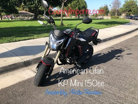 American Lifan KP Mini 150cc Motorcycle Assembly/Ride/Review