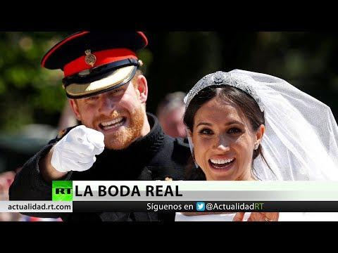'¡Último momento! ¡Sellado con un beso!': La boda real en Reino Unido se adueña de los medios