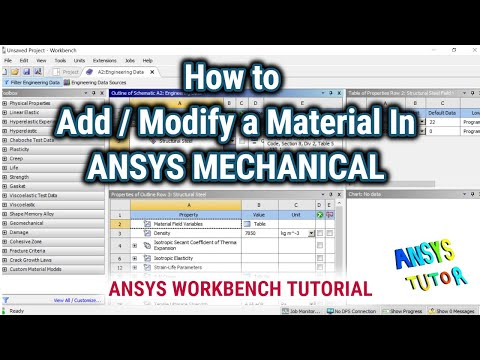 ANSYS Workbench Tutorial: How To Add/Modify A Material | ANSYS Mechanical