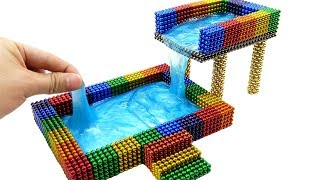DIY How To Make Rainbow Two Floors Swimming Pool With 35000 Magnetic Balls, Slime   Surprise Balls