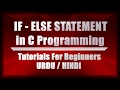 If Else Statement C programming in URDU HINDI    Control Statement