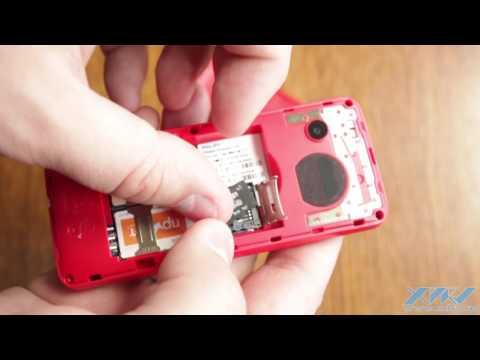 Как вставить SIM-карту в Philips Xenium E103 (XDRV.RU)