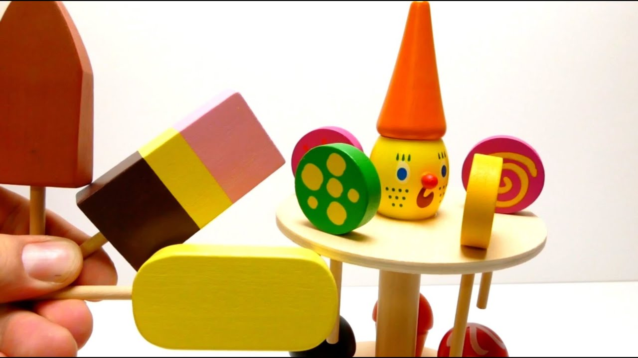 Ice Cream Cone & Lollipop Wooden Toys Unboxing