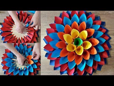 DIY Dahlia Flower Tutorial | Giant Paper Flower