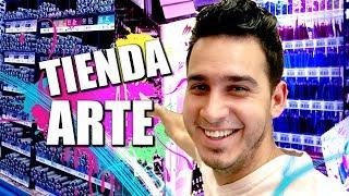 Visitando una TIENDA DE ARTE | BOTÓN DE PLATA DE YOUTUBE | Vlog