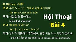 Học Tiếng Hàn Qua Hội Thoại Bài 4: 날씨와 계절 - Thời tiết và Mùa   Hàn Quốc Sarang
