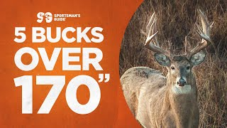 """5 Bucks Over 170""""   Giant Whitetail Hunts   Monster Buck Moments presented by Sportsman's Guide"""