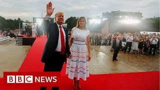 Trump leads Salute to America celebration - BBC News