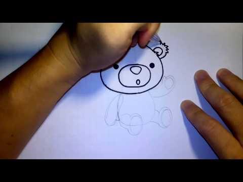 วาดการ์ตูน กันเถอะ สอนวาดรูป การ์ตูน ตุ๊กตาหมี
